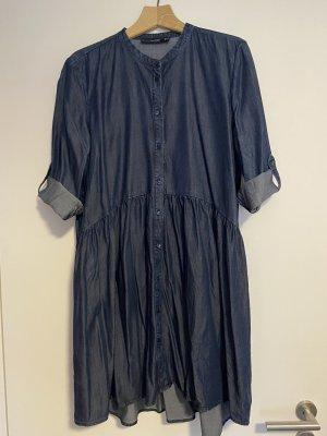 Hallhuber Robe en jean bleu foncé