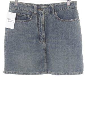 Hallhuber Jeansrock blau Jeans-Optik