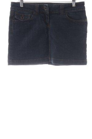 Hallhuber Jeansrock graublau-dunkelblau schlichter Stil
