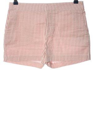 Hallhuber Short en jean rose-blanc motif rayé style décontracté