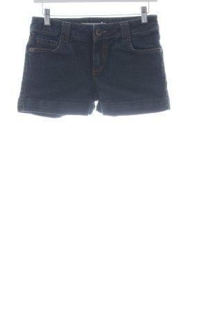 Hallhuber Jeansshorts dunkelblau meliert Casual-Look