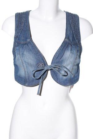 Hallhuber Jeansweste blau Casual-Look