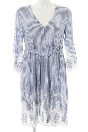 Hallhuber Jerseykleid blau-weiß Streifenmuster Casual-Look