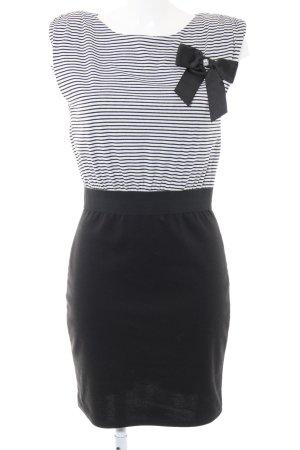 Hallhuber Jerseykleid schwarz-weiß Streifenmuster Casual-Look