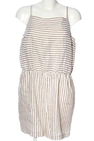 Hallhuber Jumpsuit braun-weiß Streifenmuster Casual-Look