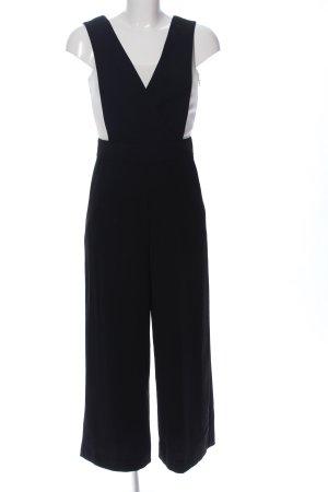 Hallhuber Jumpsuit schwarz-weiß Casual-Look