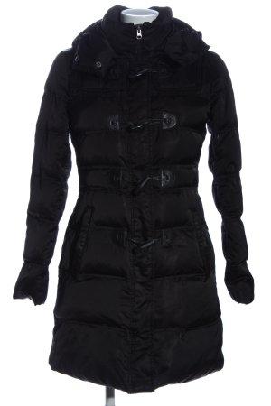 Hallhuber Giacca con cappuccio nero motivo trapuntato stile casual