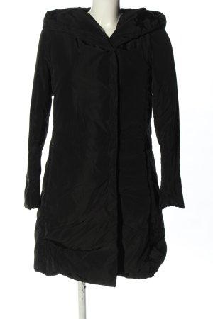 Hallhuber Veste à capuche noir style décontracté
