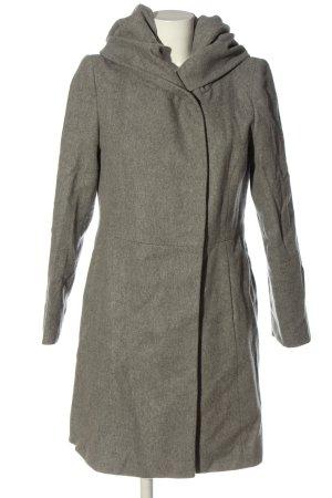 Hallhuber Płaszcz z kapturem jasnoszary Melanżowy W stylu casual