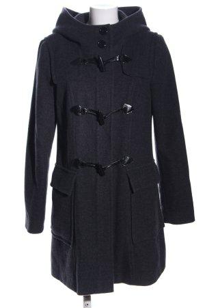 Hallhuber Manteau à capuche noir moucheté style d'affaires