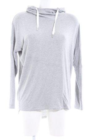 Hallhuber Camicia con cappuccio grigio chiaro puntinato stile casual
