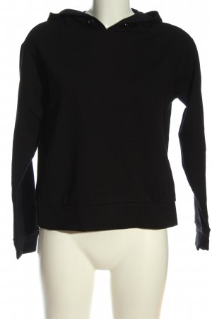 Hallhuber Kapuzensweatshirt schwarz Casual-Look