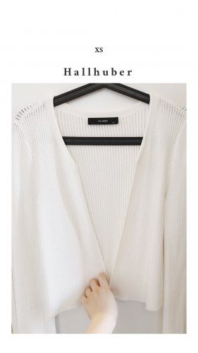 Hallhuber Cardigan in maglia bianco