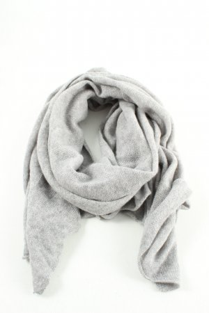 Hallhuber Cashmere Scarf light grey flecked casual look