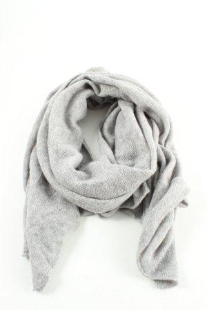 Hallhuber Sciarpa in cashmere grigio chiaro puntinato stile casual