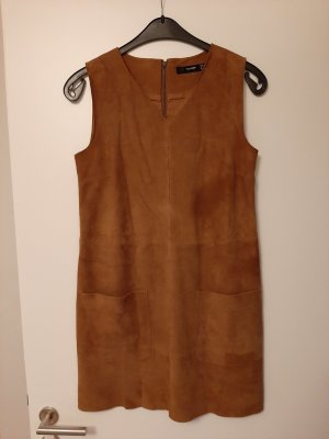 Hallhuber Leather Dress brown