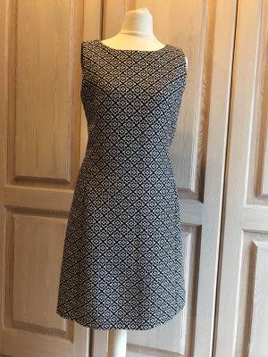Hallhuber Kleid Etuikleid schwarz weiß 34 Retro Stil