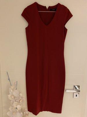 Hallhuber Kleid Gr 34 dunkelrot