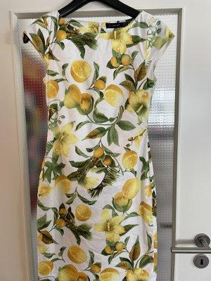 Hallhuber Kleid Gr.34 Zitrone Muster