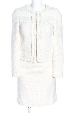 Hallhuber Traje para mujer blanco puro Patrón de tejido estilo «business»