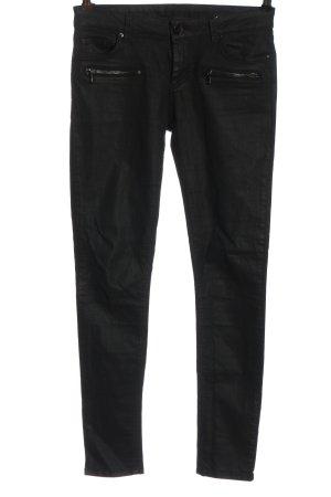 Hallhuber Jeansy ze stretchu czarny W stylu casual