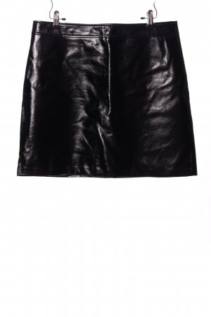 Hallhuber Faux Leather Skirt black casual look