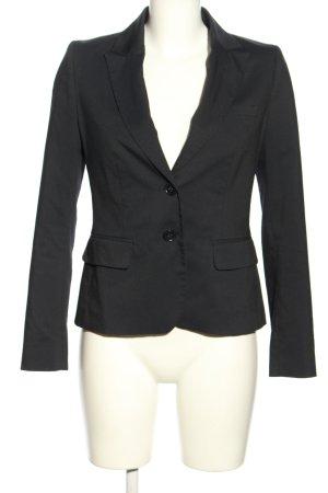 Hallhuber Kurz-Blazer schwarz-weiß Streifenmuster Business-Look