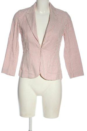 Hallhuber Kurz-Blazer pink-weiß Streifenmuster Casual-Look