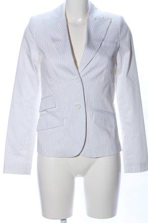 Hallhuber Kurz-Blazer weiß-schwarz Streifenmuster Business-Look