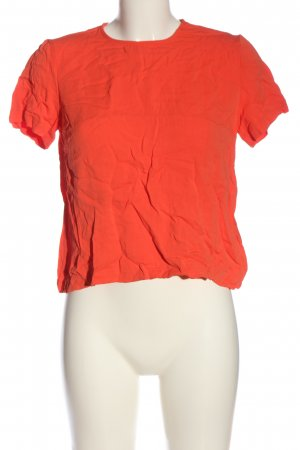 Hallhuber Kurzarm-Bluse rot Casual-Look