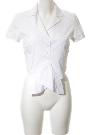 Hallhuber Kurzarm-Bluse weiß Elegant