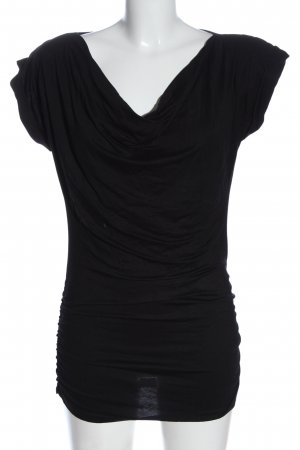 Hallhuber Lange top zwart casual uitstraling