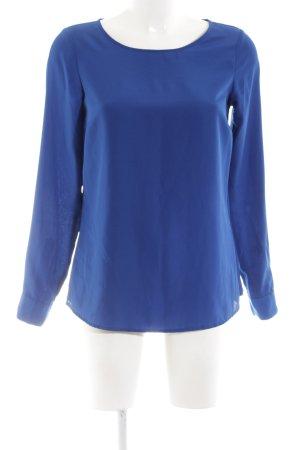 Hallhuber Langarm-Bluse blau Business-Look