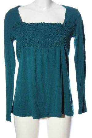 Hallhuber Langarm-Bluse blau meliert Casual-Look