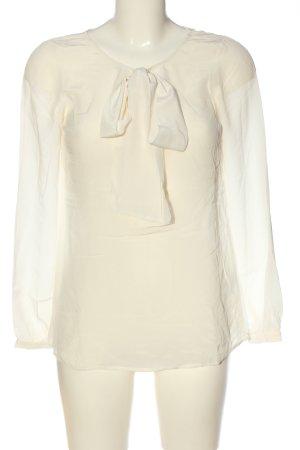 Hallhuber Langarm-Bluse creme Business-Look