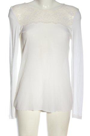 Hallhuber Bluzka z długim rękawem biały W stylu biznesowym