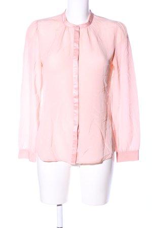 Hallhuber Langarm-Bluse pink Business-Look