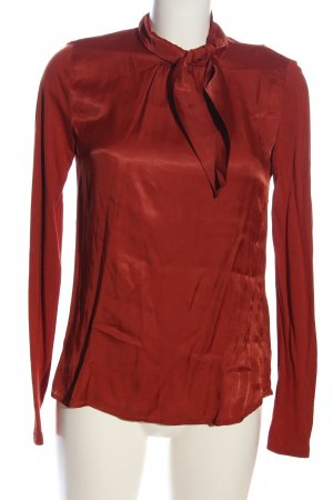 Hallhuber Langarm-Bluse rot Business-Look