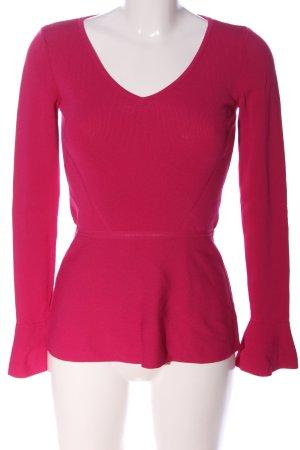 Hallhuber Langarm-Bluse pink Casual-Look