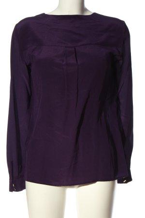 Hallhuber Langarm-Bluse lila Elegant