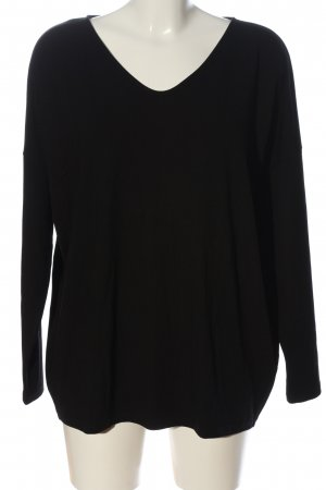 Hallhuber Langarm-Bluse schwarz Casual-Look