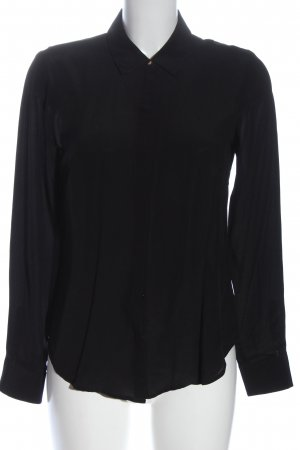 Hallhuber Langarmhemd schwarz Casual-Look