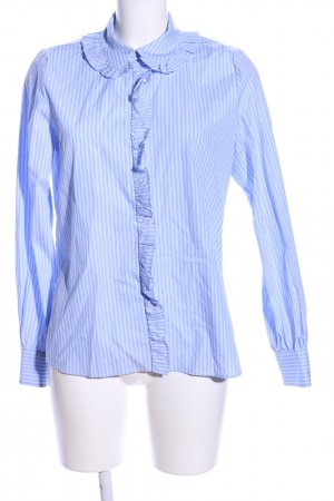 Hallhuber Langarmhemd blau-weiß Streifenmuster Business-Look