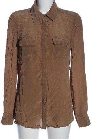 Hallhuber Langarmhemd braun Casual-Look