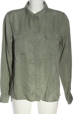 Hallhuber Langarmhemd khaki Casual-Look