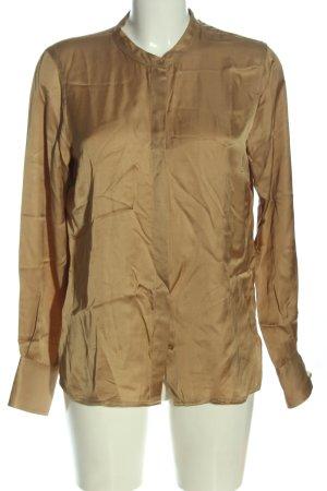 Hallhuber Langarmhemd goldfarben Casual-Look