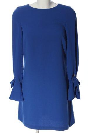 Hallhuber Langarmkleid blau Business-Look