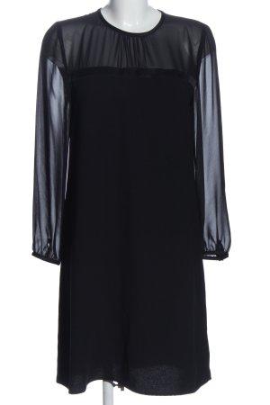 Hallhuber Robe à manches longues noir style décontracté