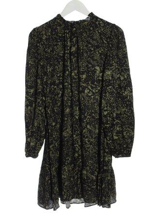 Hallhuber Longsleeve Dress black-khaki allover print casual look
