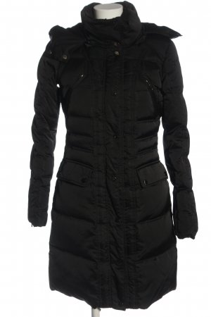 Hallhuber Long Jacket black quilting pattern casual look